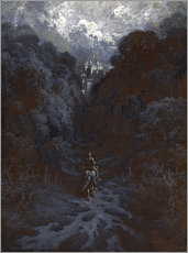 Autocolante decorativo  Sir Lancelot Approaching the Castle of Astolat - Gustave Doré