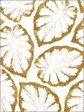 Autocolante decorativo  Monstera Gold - Uma 83 Oranges