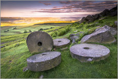 Autocolante decorativo  Stanage Edge Millstones at sunrise - Andrew Sproule