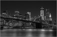 Autocolante decorativo  Brooklyn Bridge at Night - Thomas Klinder