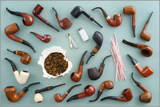 Autocolante decorativo  Collection of smoking pipes - Elisabeth Cölfen