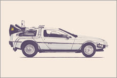Autocolante decorativo  Delorean - Florent Bodart