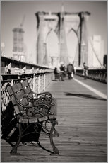 Autocolante decorativo  Bench on Brooklyn Bridge - Denis Feiner
