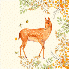 Autocolante decorativo Magical Deer in Forest