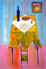 Autocolante decorativo  Small chair and big table - Diego Manuel Rodriguez