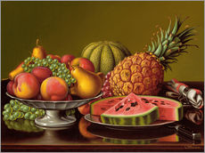 Autocolante decorativo  Still Life with Fruit - Levi Wells Prentice