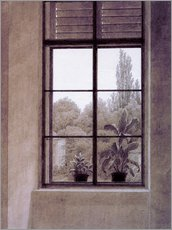 Autocolante decorativo  Window w.view o.park - Caspar David Friedrich