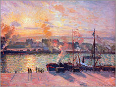 Autocolante decorativo  Sunset at Rouen - Camille Pissarro
