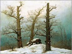 Autocolante decorativo  Megalithic grave in the snow - Caspar David Friedrich