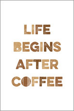 Autocolante decorativo  Life begins after coffee - Typobox