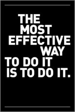 Quadro em plexi-alumínio  The most effective way to do it, is to do it. - THE USUAL DESIGNERS