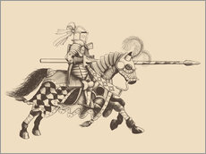 Autocolante decorativo  Knight with armor and horse