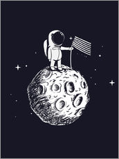 Autocolante decorativo The first man on the moon