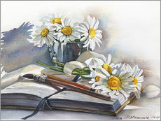 Autocolante decorativo Watercolour Chamomile