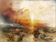 Autocolante decorativo  O navio negrerio - Joseph Mallord William Turner