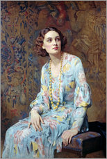 Autocolante decorativo  Retrato duma mulher - Albert Henry Collings