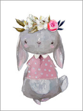 Autocolante decorativo  Summer bunny with flowers in her hair - Kidz Collection