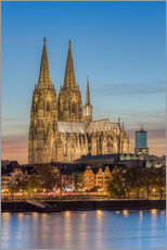 Quadro em plexi-alumínio  The Cologne Cathedral in the evening - Michael Valjak