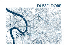 Autocolante decorativo  City map of Dusseldorf - 44spaces