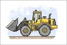 Autocolante decorativo  Hugos wheel loader - Hugos Illustrations