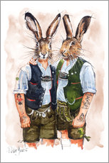 Autocolante decorativo  Gay rabbits - Peter Guest