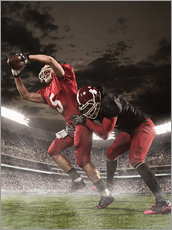 Autocolante decorativo  American football players in action