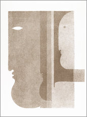 Autocolante decorativo  Two profiles to the left, one to the right - Oskar Schlemmer