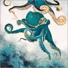 Autocolante decorativo  Octopus, underwater dream V - SpaceFrog Designs