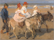 Autocolante decorativo  Donkey rides on the beach - Isaac Israels