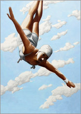 Póster Premium  Diver in the clouds - Sarah Morrissette