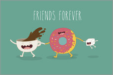 Póster Premium  friends for ever