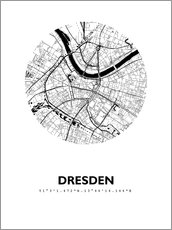 Póster Premium City map of Dresden