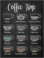 Póster Premium  Coffee time - Typobox
