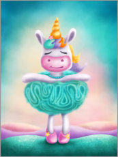 Póster Premium Unicorn as a ballet dancer