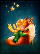 Quadro em plexi-alumínio  The Little Prince and The Fox - Elena Schweitzer