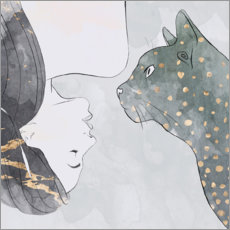 Póster Premium Cats whispers