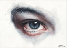 Póster Premium Eye study in watercolors