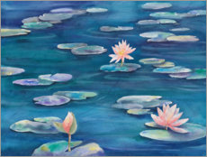 Póster Premium Water Lilies