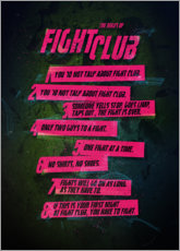 Póster Premium Fight Club Rules