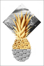 Póster Premium  Golden pineapple - NiMadesign
