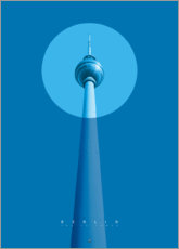 Autocolante decorativo  Berlin TV tower - Black Sign Artwork