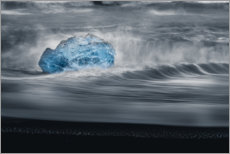 Póster Premium An iceberg in the waves