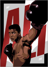 Póster Premium Ali The Greatest