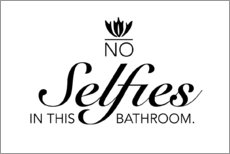 Póster Premium  No selfies in this bathroom - Typobox