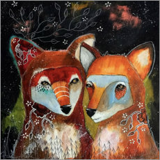 Póster Premium  Foxes - Home is where you are - Micki Wilde
