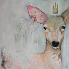 Póster Premium Enchanted fawn