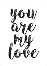 Póster Premium You are my love
