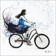Póster Premium Bicycle Ride