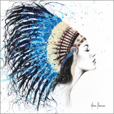 Póster Premium Woman with headdress
