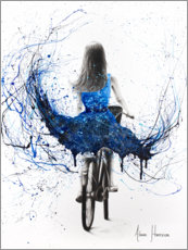 Póster Premium Blue Bicycle Ride
